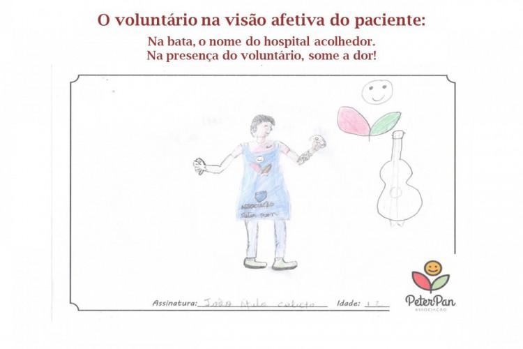Para demonstrarem o carinho que sentem pelos voluntários, os pacientes têm escrito recados e feito desenhos que são enviados a eles (Foto: Reprodução/Associação Peter Pan)