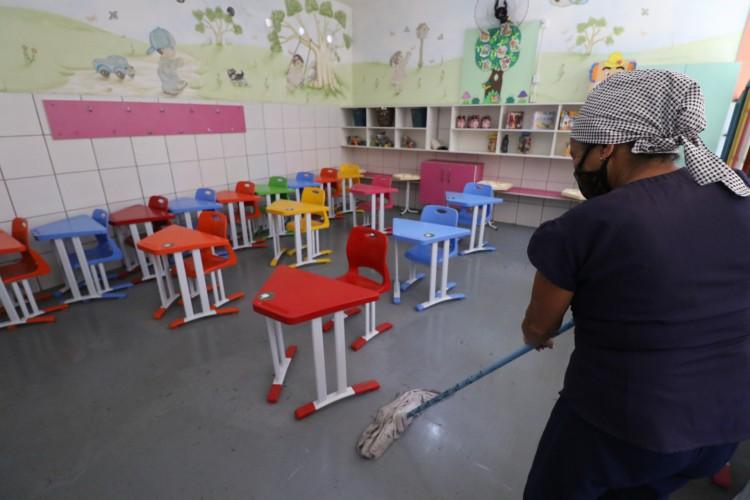 Aulas presenciais das instituições particulares da educação infantil puderam retornar com 30% dos alunos (Foto: Fabio Lima)