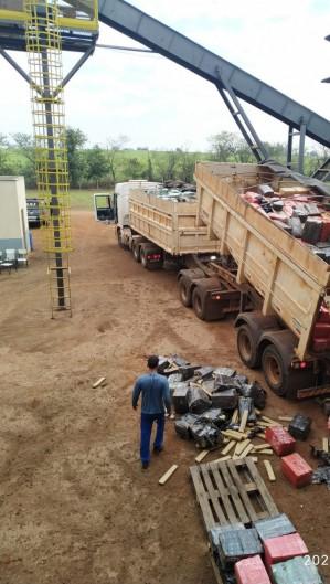 Serão queimadas 33 toneladas da droga tiradas de circulação no município de Maracaju, no Mato Grosso do Sul (Foto: DIVULGAÇÃO / POLÍCIA MILITAR MS)