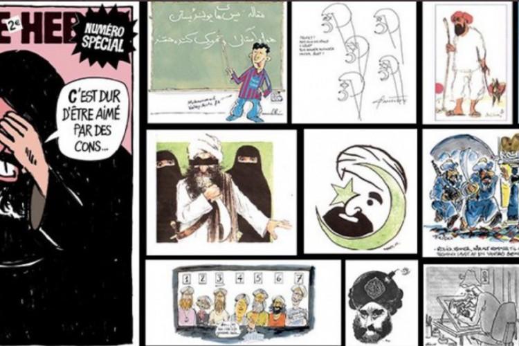 Jornal satírico Charlie Hebdo republicou charges de Maomé na véspera do início do julgamento sobre os atentados na França dem setembro de 2020 (Foto: reprodução twitter)
