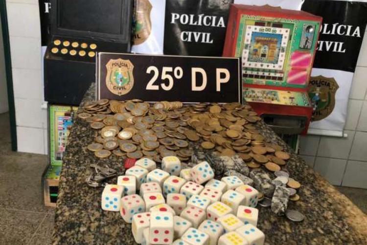 Polícia Civil fecha ponto de exploração de jogos de azar  (Foto: Divulgação/Polícia Civil )