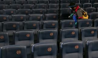 FORTALEZA, CE, BRASIL, 03.09.2020: Cinema no North Shopping, cinemas tem retomada, com todos os devidos cuidados, limpezas em salas apos as seçÅ.es e todas as proteçÅ.es. em época de COVID-19.  (Foto: Aurelio Alves/ O POVO).