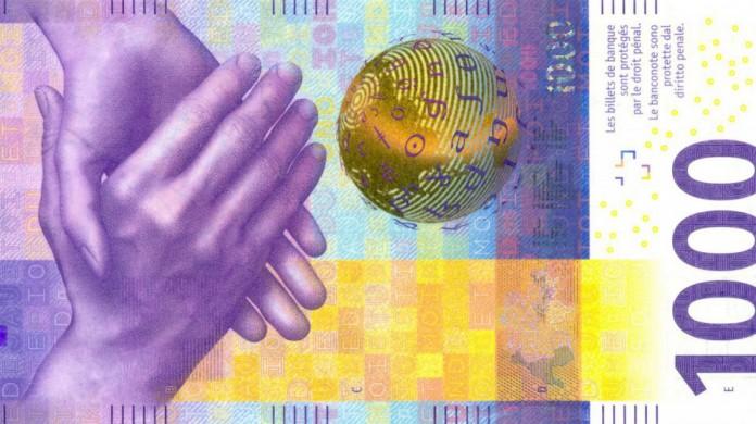 A cédula de 1000 francos suíços não só continua em circulação como ganhou design novo em 2019