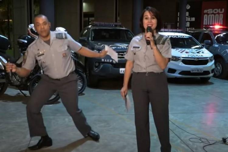 Capitão Duarte  está há 25 anos na Polícia Militar e não imaginou que seriam suas habilidades na dança que o levariam à fama nacional (Foto: Reprodução)