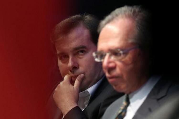 """Guedes afirmou que o governo estuda um """"programa de substituição tributária"""", sem citar o retorno de uma nova CPMF (Foto: Reprodução Lide Brasil)"""