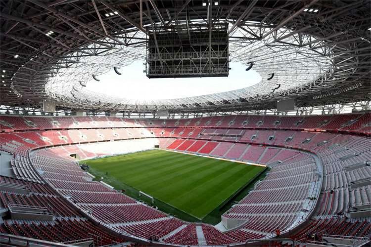 Arena Puskas, na Hungria, receberá 30% do público para a Supercopa Uefa (Foto: ATTILA KISBENEDEK / AFP)