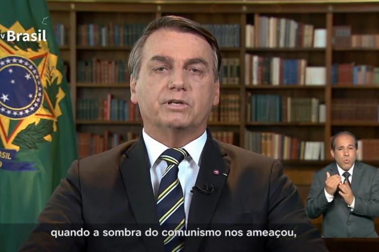 Bolsonaro se torna alvo de panelaços e protestos nas redes sociais após exaltar ditadura em pronunciamento sobre independência do Brasil (Foto: Reprodução Tv Brasil)