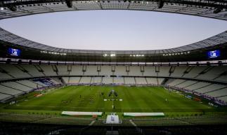 FORTALEZA, CE, BRASIL, 09.09.2020: Arena Castelão foto panoramica, sem torcida. em época de COVID-19.  (Foto: Aurelio Alves/ O POVO).