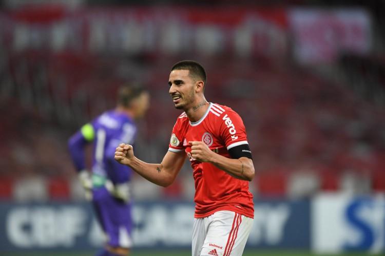 Galhardo é o artilheiro da Série A com 8 gols  (Foto: Ricardo Duarte/Internacional)