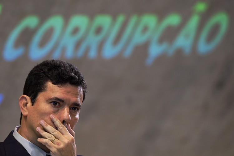 Sérgio Moro, ex-ministro da Justiça e Segurança Pública do governo Jair Bolsonaro, deixou a pasta em abril de 2020 (Foto: Carl DE SOUZA / AFP)