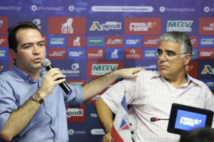 Atual presidente do Fortaleza, Marcelo Paz substituiu Luís Eduardo Girão, que comandou o time por seis meses em 2017, quando fez os aportes financeiros (Foto: Fábio Lima/O POVO)
