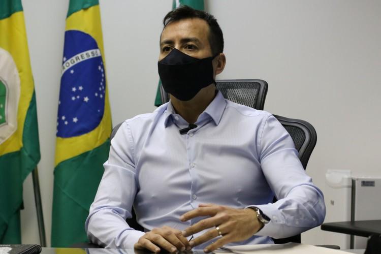 FORTALEZA, CE, BRASIL, 11.09.2020: Sandro Caron, novo secretário de segurança do estado do ceará. SSPDS.   (Fotos: Fabio Lima/O POVO) (Foto: Fabio Lima)