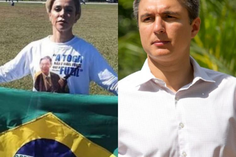 Cristiane Brasil e Pedro Fernandes. (Foto: Reprodução)