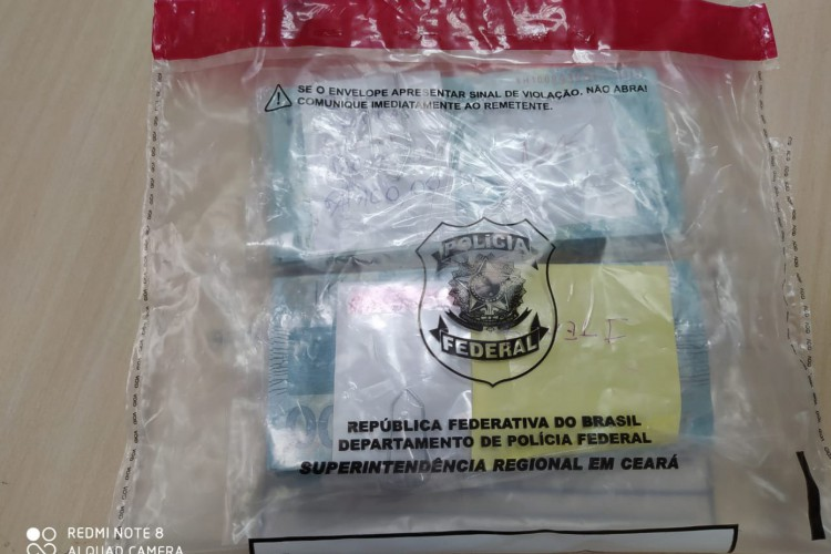 Foram 544 cédulas falsas de R$ 100 (Foto: Foto: Asscom/PF)