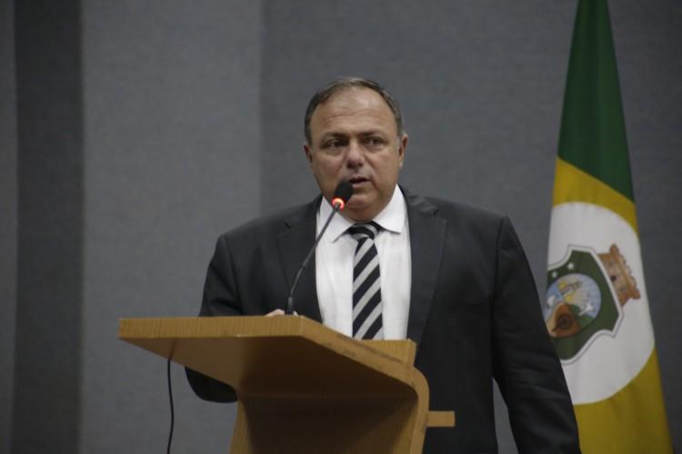Lançamento de Ações de Educação em Saúde em Defesa da Vida. Ministro Interino da Saúde, General Eduardo Pazuello  (Foto: Foto: Thaís Mesquita)