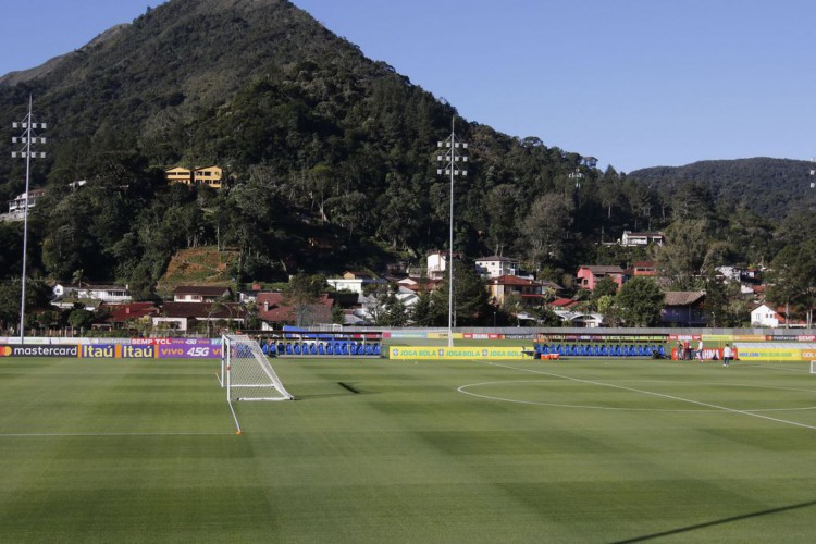 Primeiro treino da seleção brasileira de futebol para a Copa América 2019, no centro de treinamento da CBF, na Granja Comary, em Teresópolis... (Foto: Fernando Frazão/Agência Brasil)