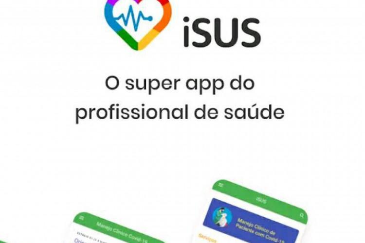 O app iSUS já pode ser baixado na loja de aplicativo do celular. (Foto: Reprodução de Tela)
