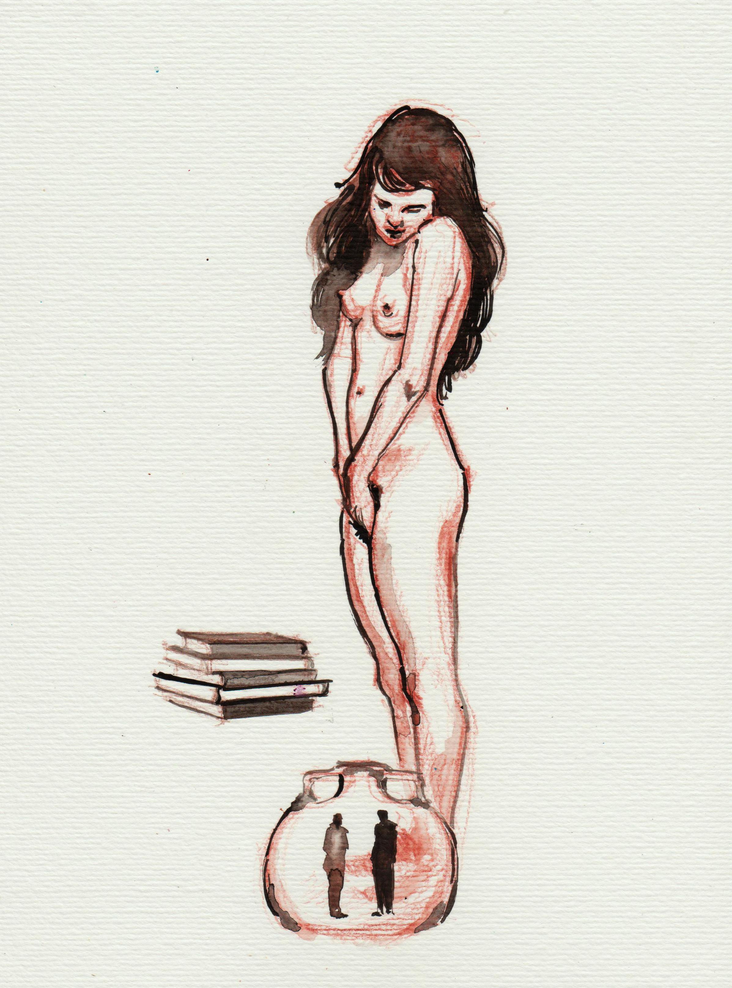 A artista visual Raisa Christina criou as ilustrações do livro Dama Inversa, de Mendes Junior