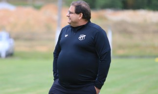 Guto Ferreira comando Ceará em treino apronto para encarar o Brusque-SC pela Copa do Brasil.