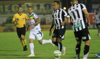 Bruno Pacheco foi titular do Ceará na vitória por 2 a 0 sobre o Brusque pela Copa do Brasil