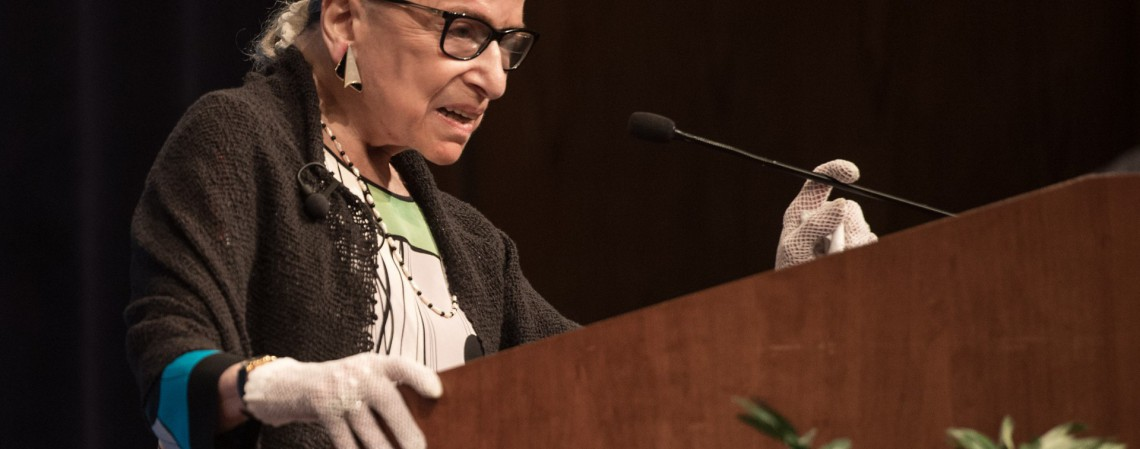 Juíza da Suprema Corte nos Estados Unidos, Ruth Bader Ginsburg (Foto: NICHOLAS KAMM / AFP)