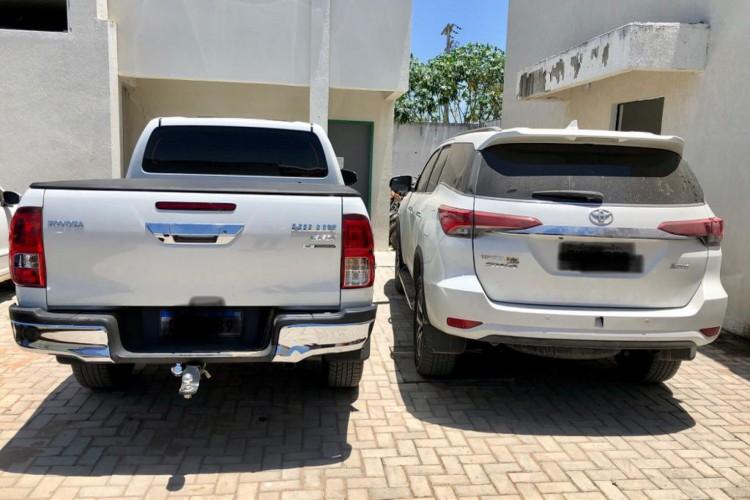 Veículos são avaliados em torno de R$400 mil (Foto: Divulgação /PCCE)