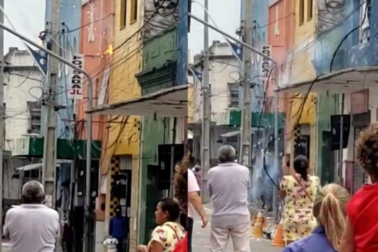 O incidente ocorreu por volta das 8h50min deste sábado, 19   (Foto: REPRODUÇÃO/WHATSAPP O POVO)