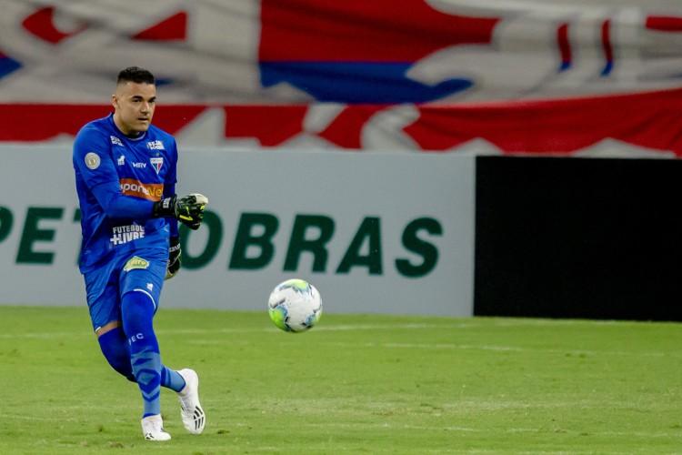 Defesa do Fortaleza é comandada pelo goleiro Felipe Alves (Foto: Fotos: Aurelio Alves)