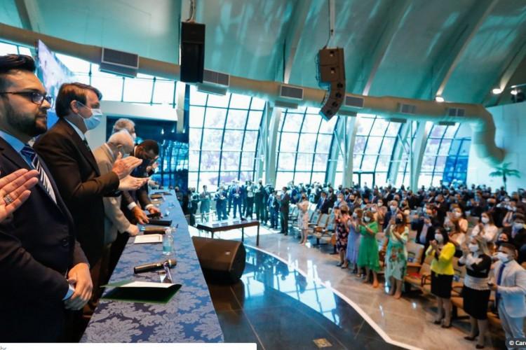 (Brasília - DF, 19/09/2020) Presidente da República, Jair Bolsonaro durante Assembleias de Deus no Brasil, Ministério de Madureira (Foto: Carolina Antunes/PR)