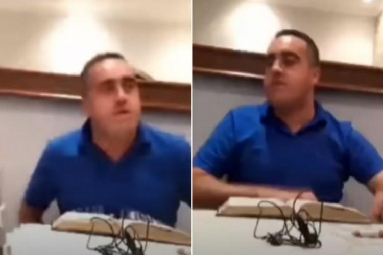 Momento foi filmado sem o líder religioso saber (Foto: Reprodução / YouTube)