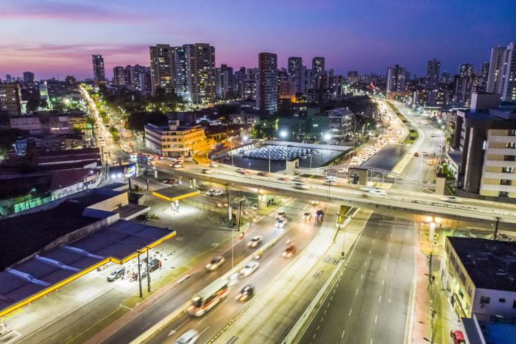 Vista aérea de Fortaleza (Foto: FCO FONTENELE)