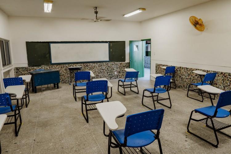 Colégio Jenny Gomes, exclusivo de Ensino Médio em tempo integral, já iniciou preparação física para volta (Foto: JÚLIO CAESAR)