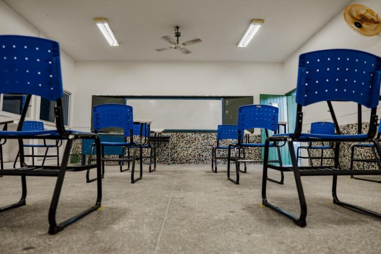 Em Fortaleza, a Escola de Ensino Médio em Tempo Integral Jenny Gomes.  (Foto: JÚLIO CAESAR)