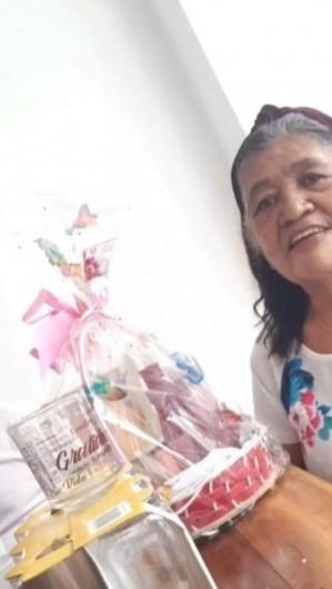Dona Francisca, de 70 anos, segue internada no IJF  (Foto: arquivo pessoal )