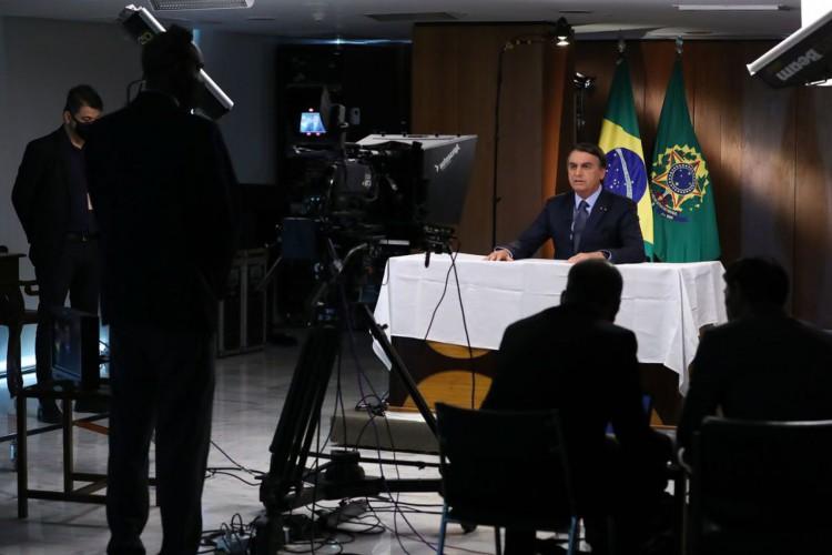 (Brasília - DF, 16/09/2020) Gravação de discurso para a 75ª Assembleia Geral da ONU..Foto: Marcos Corrêa/PR (Foto: )