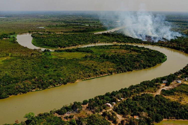 Lançamento da Operação Pantanal 2 para combate ao incêndio na região..Foto: Mayke Toscano/Secom-MT. (Foto: Mayke Toscano/Secom-MT)