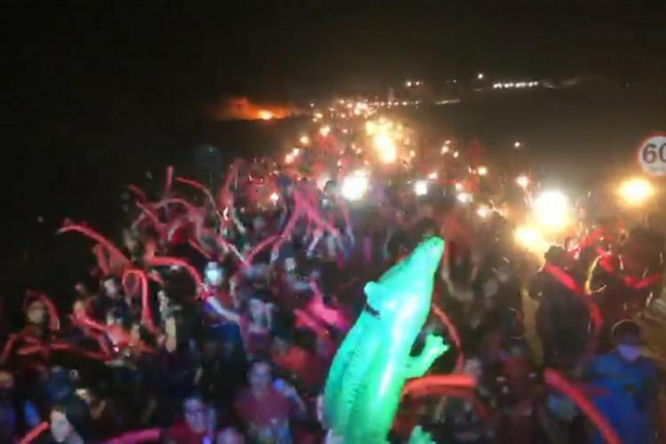 MPCE ajuíza ação por danos morais coletivos contra representantes de coligações partidárias por promoveram aglomerações em Varjota nos dias 15 e 16 de setembro  (Foto: Divulgação MPCE)