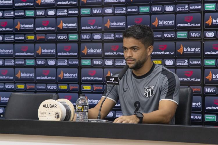 Felipe Silva espera jogar diante do Brusque/SC, pela Copa do Brasil (Foto: Wilton Hoots/Ceará SC)