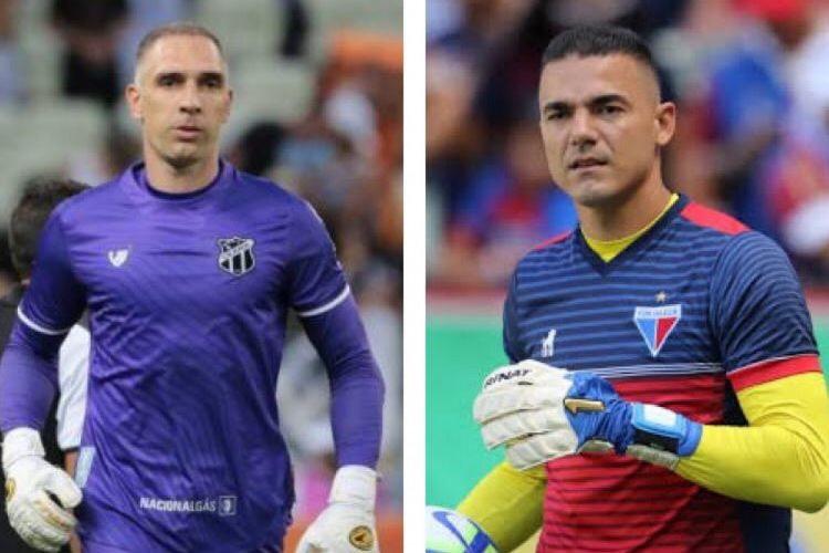 Fernando Prass e Felipe Alves são destaques de Ceará e Fortaleza na Série A (Foto: FÁBIO LIMA/O POVO)