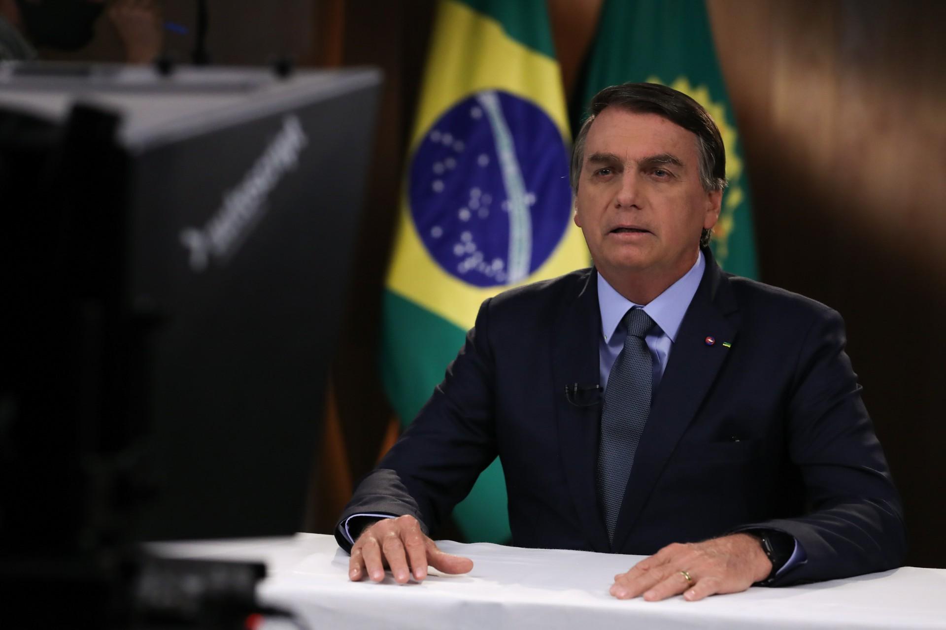 Presidente Jair Bolsonaro em discurso na ONU