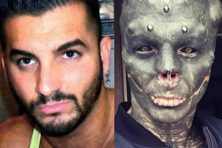 O francês afirma gostar da nova aparência (Foto: Reprodução /Instagram the_black_alien_project)