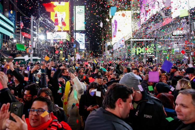 Celebração do ano-novo na Times Square, em Nova York, será virtual (Foto: )