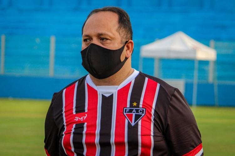 Presidente do Ferroviário, Newton Filho, está com Covid-19 (Foto: Lenilson Santos / Ferroviário Atlético Clube)