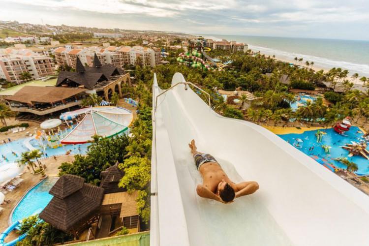 Saiba como participar da promoção e como o parque está atuando após retomada (Foto: Divulgação/Beach Park)
