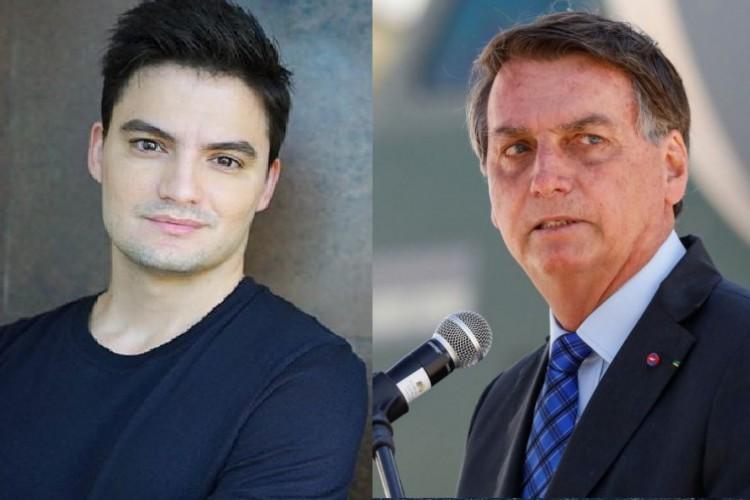 Felipe Neto e Bolsonaro são os únicos brasileiros listados na TIME100 de 2020. (Foto: Reprodução/instagram e Alan Santos/Presidência da República)