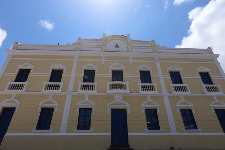 Fortleza em 23 de setembro de 2020. Fachada da sede da prefeitura, o paço municipal, no centro. (Foto Fabio Lima) (Foto: Fabio Lima)