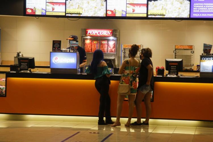 O cinema é a atividade que os brasileiros mais têm intenção de retornar (Foto: Thais Mesquita/ O Povo)