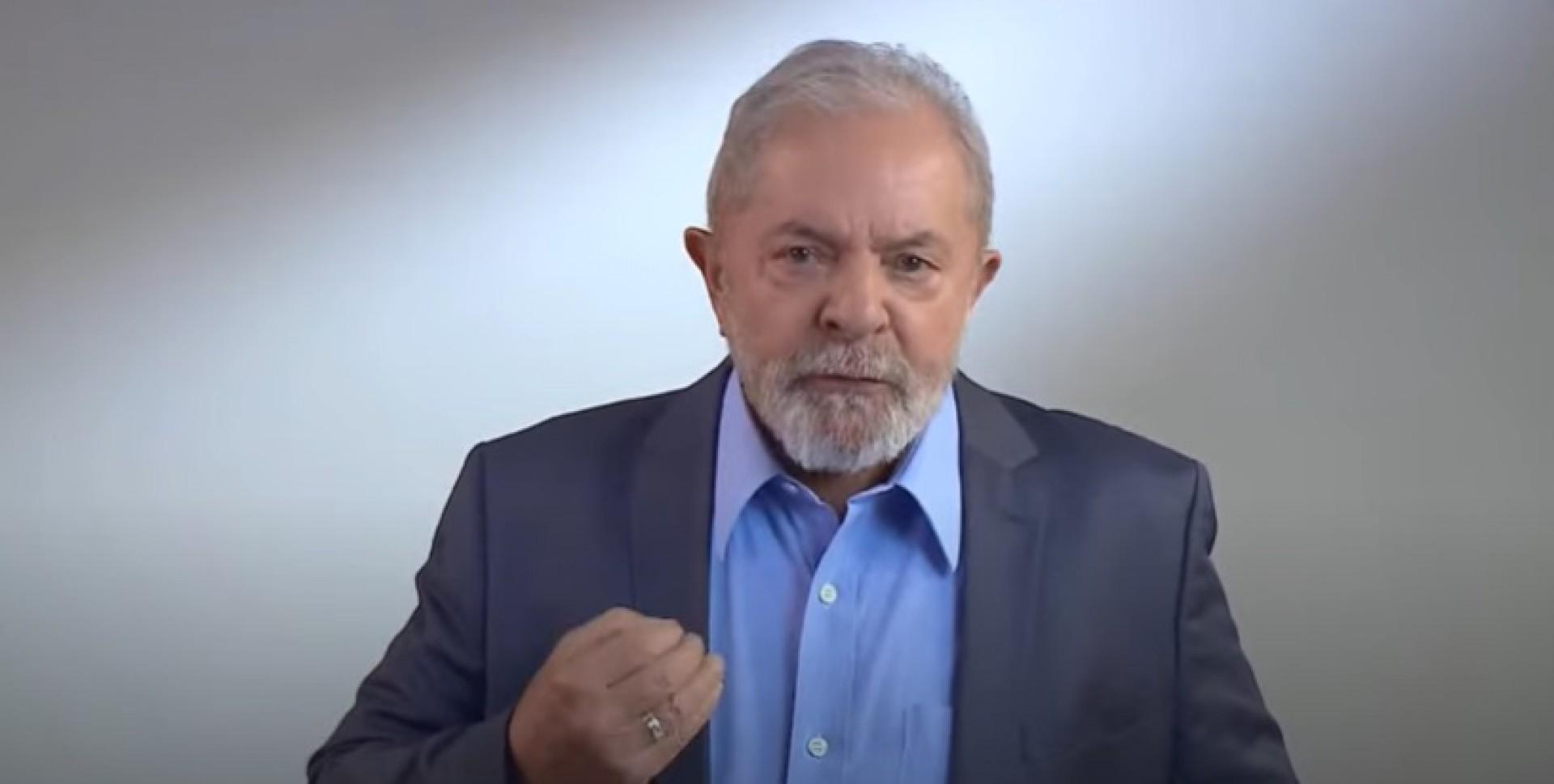 Luiz Inácio Lula da Silva em vídeo durante a campanha eleitoral