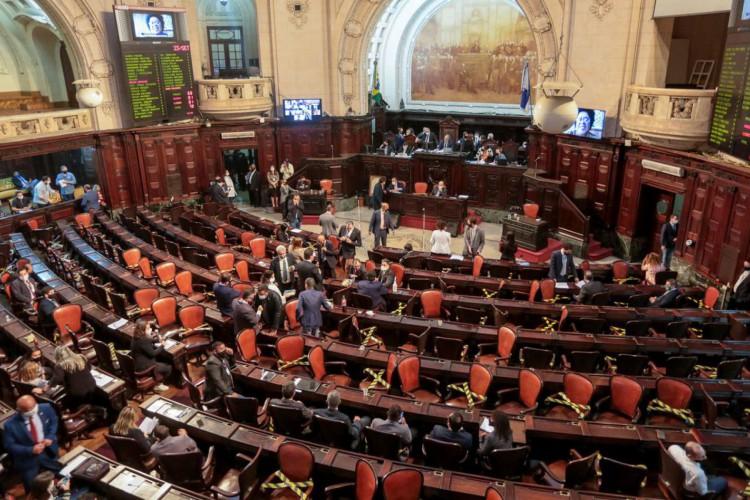 Sessão plenária na Alerj, que marca a votação do processo de impeachment do Governador Wilson Witzel (Foto: Rafael Wallace/Alerj)
