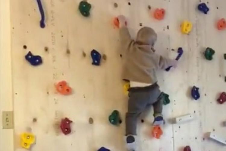 Vídeo que mostrar bebê escalando parede viralizou no Twitter (Foto: REPRODUÇÃO TWITTER)